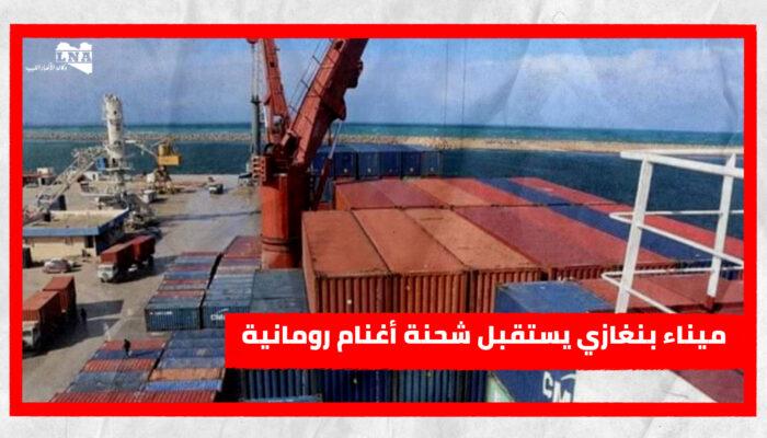 ميناء بنغازي يستقبل شحنة أغنام رومانية