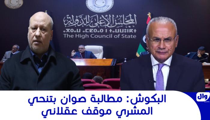 البكوش: مطالبة صوان بتنحي المشري موقف عقلاني